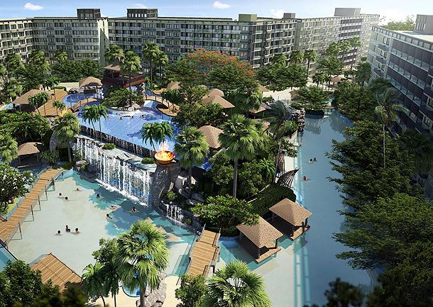 Maledives konzeptierter Schwimmbadbereich The Maldives Pattaya Jomtien