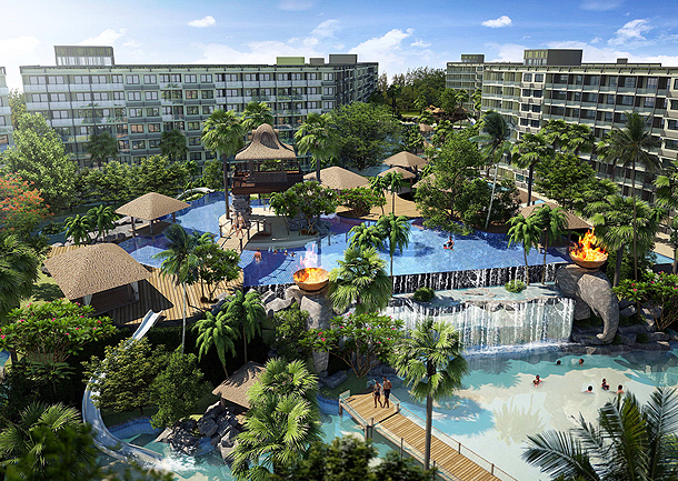 Der große Wasserpark The Maldives Pattaya Jomtien