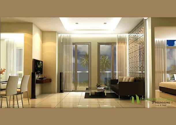 Wohnbereich Der 3 Zimmer Wohnung Arcadia Beach Resort Pattaya
