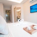 Schlafzimmer der 2-Zimmer-Wohnung (Musterwohnung) The Maldives Resort Pattaya - Jomtien Thailand