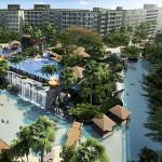 Vogelperspektive des The Maldives Resort Pattaya - Jomtien Thailand