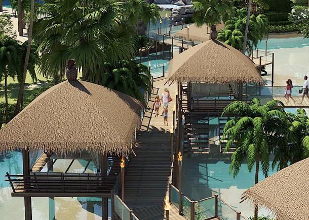 Pavillons auf Pfählen mit Glasboden The Maldives Resort Jomtien