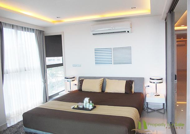 Schlafzimmer 92m² große 3-Zimmer-Wohnung Wong Amat Tower Pattaya Nord