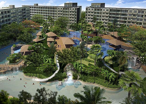 Das riesige Schwimmbad The Maldives Resort Pattaya - Jomtien Thailand
