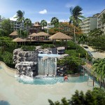 Wasserrutschen und Wasserfälle des Malediven konzeptierte Resort The Maldives Pattaya - Jomtien Thailand