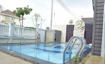 Larg pool in front yard Bang Saray detached house for sale