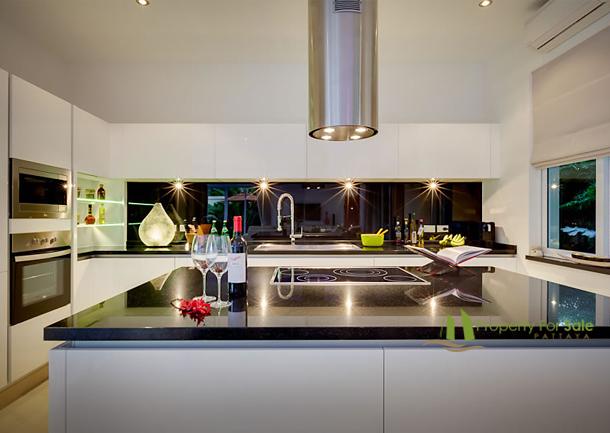 Das Design der Küche hängt von Ihren Wünschen ab La Residence Vineyard Pool Villa Pattaya