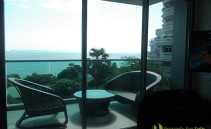 Balkon mit Meerblick Wong Amat Tower Pattaya Nord
