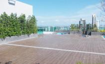 Garten auf der Dachterrasse Wong Amat Tower Pattaya