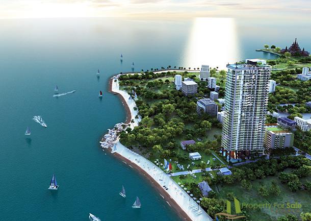 Lokation aus der Vogelperspektive Wong Amat Tower Pattaya